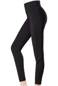 Tangerine Women's Active Rib Trim Legging Sz XL, Black