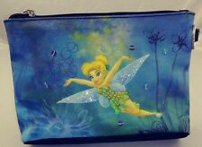 Disney Tinkerbell Cosmetic Pouch Zip Closure sequined Bag