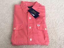 Mens Polo Ralph Lauren Beach Twill Button Down Shirt - Pink - M - BNWT