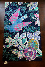 NWT Anthropologie Rosaleda Bird Floral Rug • 3x5 • crewel embroidery SOLD OUT!