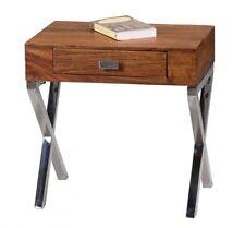 Console de nuit Table de chevet NUKA 45x50x45 cm Bois massif Sheesham
