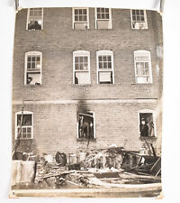 1940's Fireman Photo Philadelphia 10 3/4 x 13 1/4 Apartment Building Fire V32