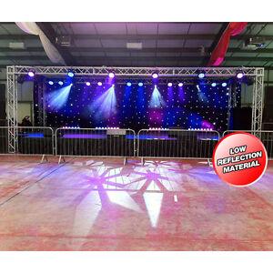 LEDJ 6m x 3m DMX LED Starcloth System Black Cloth White LED Backdrop *B-Stock