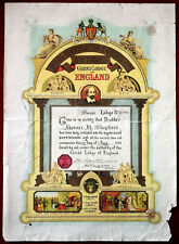 More details for royal antediluvian order of buffaloes, grand lodge of england initiation 1941