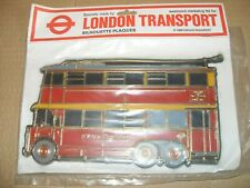 London Transport Silhouette Plaques 1980 - Trolley Bus - As Photo's