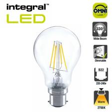 Integral LED Dimmable GLS Globe Filament Light Bulb B22 E27 7w=60w Full Glass