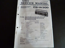 ORIGINALI service manual AIWA cs-w300