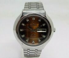 VINTAGE MEN'S SWISS OMAX AUTOMATIC CRYSTAL 25 JEWELS DAY & DATE WRIST WATCH