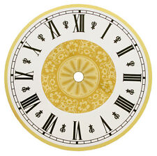 New Fancy Filigree Round Metal Clock Dial with Arabic or Roman Numbers -3 Sizes!