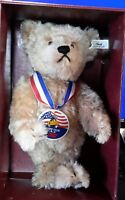 1993/1994 Steiff Club Mohair SAM Teddy Bear USA Edition number 53 in box