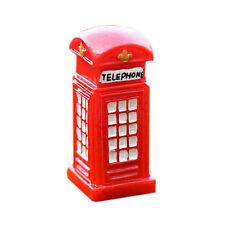 Portal Telephone Booth Ornaments Garden Miniatures Toys Gnome Moss Decor Resin