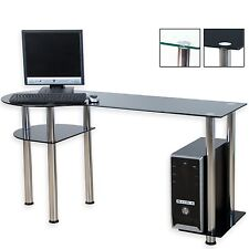 Stilista design table d'Ordinateur Bureau de PC verre noir
