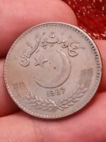 1987 Pakistan 1 Rupee KM#  57.2 one collectable grade coin 091119