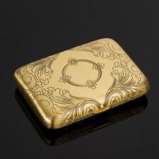 Vintage Cigarette Case Copper plating Cigarette Holder  water wave Antique gold