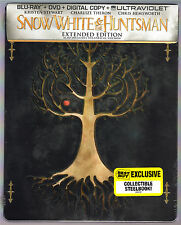 SNOW WHITE AND THE HUNTSMAN 2-DISC BLU-RAY STEELBOOK NEU & OVP SEALED BEST BUY