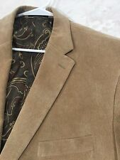 Ralph Lauren Corduroy Tan Blazer 48R Paisley Polo Suit Jacket Sports Coat $299
