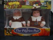 The Pilgrim Pair - Salt And Pepper Shakers - Encore Edition - Brand New