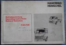 Hanomag Henschel Lieferwagen F 20 - F 35 Betriebsanleitung
