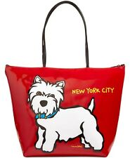NWT Marc Tetro NYC Westie Large Zip Tote Red Patent - FACTORY SEALED