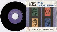 """LOS H-H ~ MIS MEMORIAS / EL AMOR NO TIENE FIN ~ 1969 SPANISH 7"""" SINGLE + P/S"""