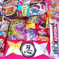 Japanese Sweets Set 20pcs Chocolate Candies Snacks Gummy & Free NINJA STARS