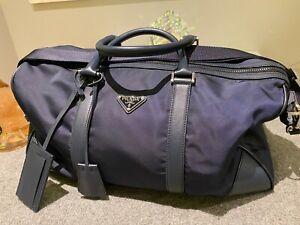 Prada Duffle Bag, Deep Blue, 100% Authentic