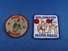 BOY SCOUTS PATCH BADGE CANADA BEAVERS FOREST HILL BEAVEREE 19878 HALIDMAND 1991