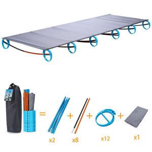 Ultralight Portable Folding Camp Bed Tent Cot Aluminium Alloy Hiking Fishing Bed