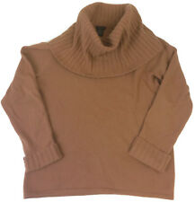Prague 100% Cashmere Tan Beige Turtleneck Sweater Size XL