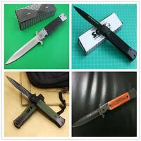 4Pcs SOG Knife Folding Pocket Outdoor Hunting Stainless Steel Tool Men's Gift