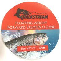 "NEW! ""Chalkstream"" Weight Forward floating SALMON fly fishing line WF9F WT12F."