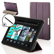 Pelle Viola Smart Pieghevole Case per Amazon Fire HD 6 Tablet + Stilo