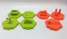 U-Build Monopoly Game Replacement Piece ALL 3 HAZARD & 4 BONUS BUILDING TILES