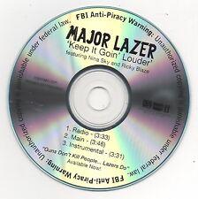 Major Lazer con Nina Sky Keep It Goin Louder Limited Edition Promo CD Diplo