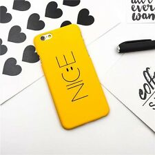 Cute Cartoon Smile Pattern Soft Silicone Skin Case Cover For iPhone 5 6s 7 Plus