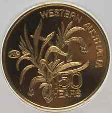 Matthey Garrett (Johnson) 1oz .9999 Fine Gold Coin Western Australia Anniversary
