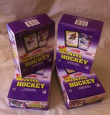 4 Box Lot  Score Hockey CARDS 1991 Old Unopened  Hasek Rookie ? Gretzky ? +?
