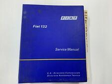 FIAT 132 Original Loose Leaf Factory Workshop Service Manual