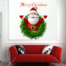 Cartoon Santa Claus Wall Stickers Vinyl Art Christmas Home Window Decals Decor