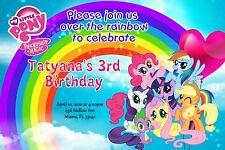 My Little Pony Birthday Invitation 24hr Service UPRINT