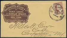 #11 ON BROWN CAMEO ADVT CVR NY DEC 22 CDS TO COOPERSTOWN, NY W/ ENCLOSURE BQ9788