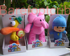 "SET OF 3PCS NIP POCOYO & FRIENDS Pocoyo Elly Pato~ 10"" PLUSH DOLLS"