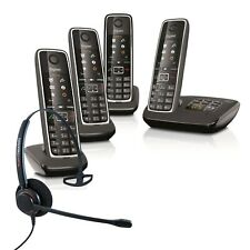Cordless Phone Gigaset C530A 4 Handsets Answer Machine w Corded Headset