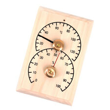 Doppel Sauna Holz Hygrothermograph Thermometer Hygrometer Sauna Raumzubehör