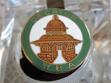 WBA Decatur Cloisonne Temple Hat Pin -- Pinback