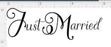 Just Married Sign Wedding Day Car Sticker Decorations Window Banner many colors