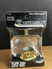 Solid Brass Dish Soap Tray Americana 2 D2706 Decor Bathware Factory Sealed