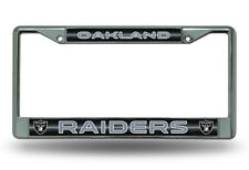 NFL Oakland Raiders, Metal License Plate Frame (Deluxe Chrome)
