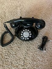 Table Top Black Retro Redial Flash Telephone Phone!