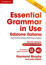 Cambridge ESSENTIAL GRAMMAR IN USE 4TH Ed w Answers &Online Italian ITALIANA New